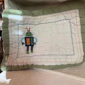 Pottery Barn Kids Small Robot Pillowcases